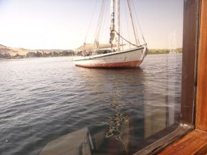 Felucca outside our Cruise Ship on the Nile 2011