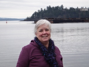 My good friend Rebecca in Chemainus, Vancouver Island, 2012