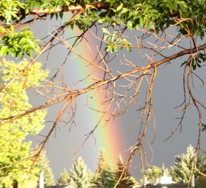 New Moon / Solar Eclipse Rainbow Sept 13, 2015